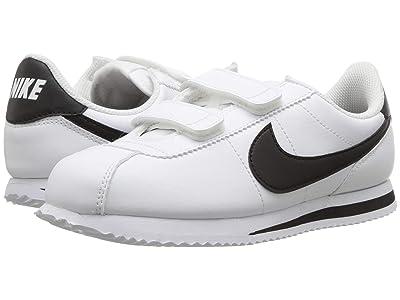 Nike Kids Cortez Basic SL (Little Kid) (White/Black) Boys Shoes