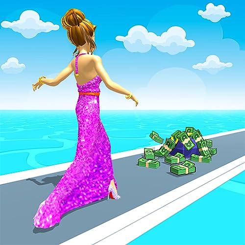 Rich Queen Run Body Race 3D - Beauty Angela Popular Girls Fit Race