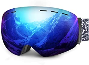 mysuntown Ski Snow Goggles UV Protection Anti-Fog Snowboard Goggles for Men Women