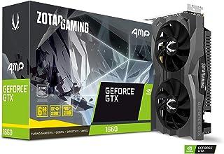 ZOTAC Gaming GeForce GTX 1660 AMP 6GB GDDR5 192ビットゲーミンググラフィックカード 超コンパクト アイスストーム 2.0冷却 ラップアラウンド メタルバックプレート ZT-T16600D-10M
