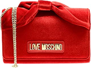 Moschino Love Moschino Women's Velvet Bow Chain Bag Red