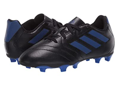 adidas Kids Goletto VII FG Soccer (Toddler/Little Kid/Big Kid) (Black/Team Royal Blue) Kids Shoes