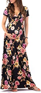 Mother Bee Maternity Women's Maternity Short Sleeve Dress - Made in USA