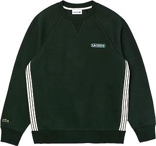 Men's Long Sleeve Striped Side Crewneck Sweatshirt