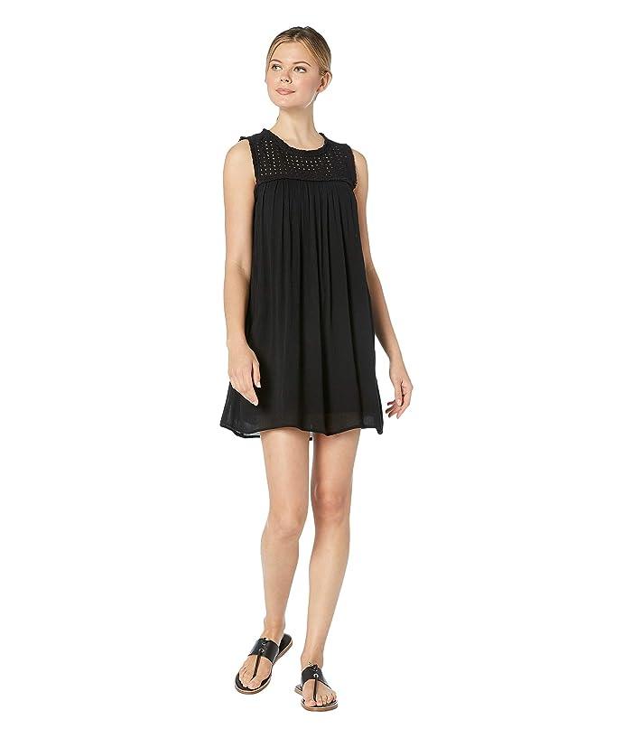 Tommy Bahama Crinkle Rayon Sleeveless Dress (Black) Women