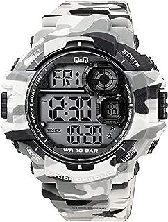 Q&Q Men's Grey Dial Silicone Band Watch - M143J004Y