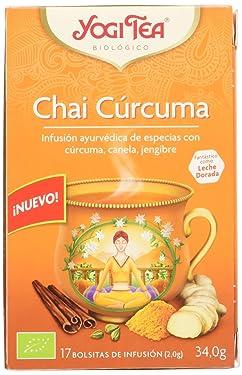 Yogi Tea Yogi Tea - Infusión Ayurvédica - Chai Curcuma - 17 Bolsitas 30 g