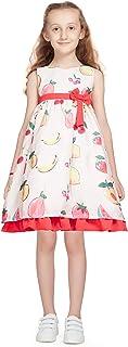 Little Kangaroos Girls Dress,Peach-ROGS2019588B