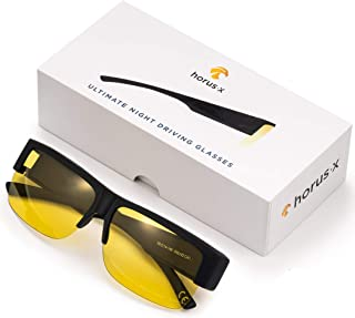 HORUS X - Gafas / Sobre gafas para conducir de noche Hombre y Mujer - Cristales Antirreflejos - Gafas Anti deslumbramiento...