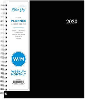 Blue Sky 2020 Weekly & Monthly Planner, Flexible Cover, Twin-Wire Binding, 7