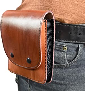 Quick Draw Leather Concealment Holster Case - Hidden Handgun Holster   Fits Compact and Sub-Compact Handguns/ Revolvers   Leather Cell Phone and Tablet Holster
