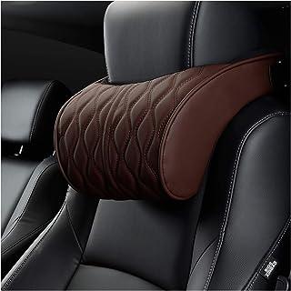 1 / 2pc Memoria de espuma de espuma de cazadora de cuero de almohada de cuero de cuero soportes de asiento conjuntos de ajuste de cojín trasero Auto cuello de reposo Almohadas lumbares ( Color : Red )