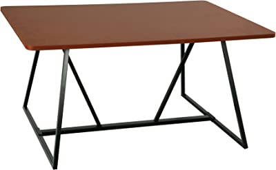 Safco Products Oasis Teaming Table, Top: Cherry, Base: Black