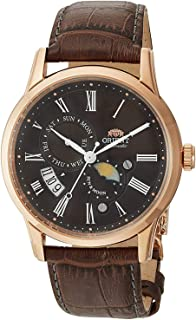 Orient Mens Automatic Watch, Analog Display and Leather Strap FAK00003T0