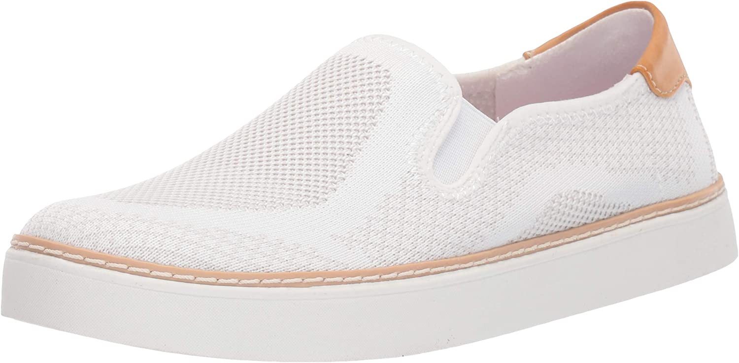 Dr. Scholl's shoes Women's Madi Sneaker, White Knit, 7.5 M US