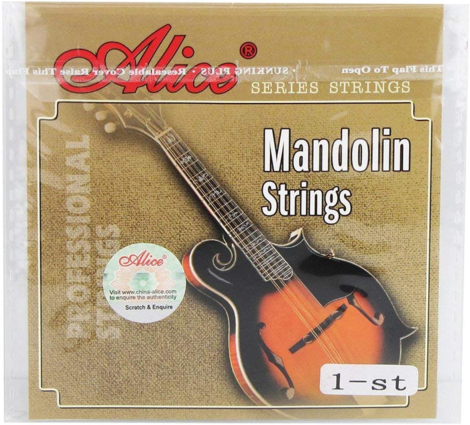 Alice AM04 Mandolin Strings E1st Plated Steel StringsExtra Light