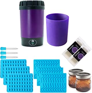 Ardent Nova Lift Decarboxylator, Ardent Infusion Sleeve, Perfectagel 240 Bloom Gelatin Sheets (2x), Gummy Bear/ Worm Molds (3x), Amber Jars (2x)