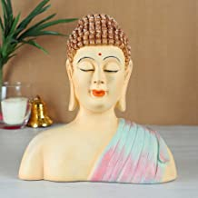 TIED RIBBONS Buddha Statue for Home Décor- Buddha Showpiece for Diwali Home Decoration and Diwali Gifts (23.5 cm X 20 cm)