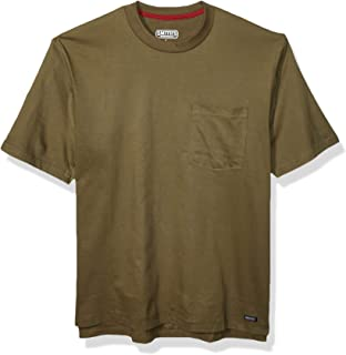 Smith's Workwear Cotton Crew Neck T-shirt With Extended Tail
