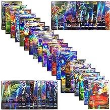 Santree Poke Cards 100Pcs TCG Style Card Holo EX Full Art 59 EX Cards 20 Mega EX Cards 20 GX Cards 1 Energy Card Cards Set