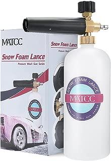 MATCC Adjustable Foam Cannon I Liter Bottle Snow Foam Lance Fit 1/4