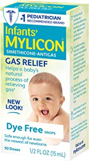 Best Mylicon Gas Relief Drops for Infants and Babies, Dye Free Formula, 0.5 Fluid Ounce Review