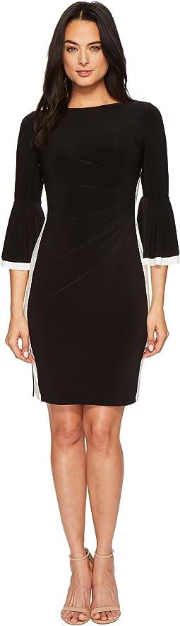 LAUREN Ralph Lauren Efraine Two-Tone Matte Jersey Dress