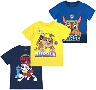 Nickelodeon Boys and Toddlers 3-Pack T-Shirts: Paw Patrol and Blaze