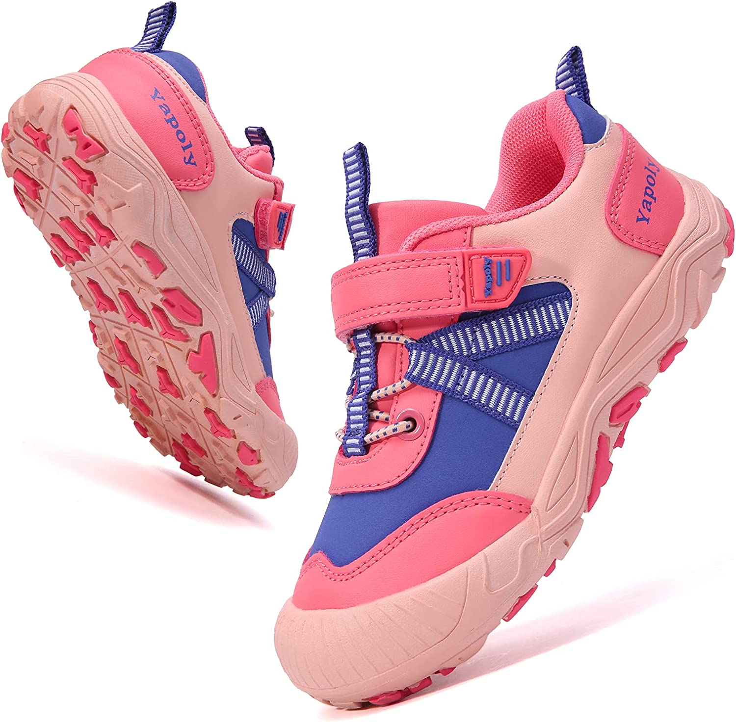 Yapoly Hiking Shoes Boys Girls - Toddlers Athletic Shoes Waterproof Anti-Collision for Trekking Trailing Camping Walking Running - Outdoor Kids Shoes Non-Slip for Little Big Kids