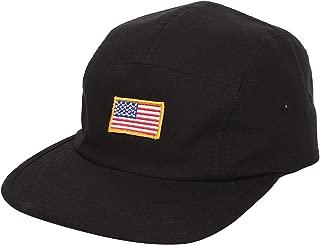 Jockey Flat Bill Cap US American Flag 5 Panel Hat MU21161