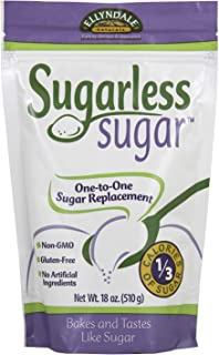 NOW Foods, Sugarless Sugar, 1-to-1 Sugar Replacement, Gluten-Free, Non-GMO, Free of Refined Table Sugar, Bakes and Tastes like Sugar, 18-Ounce