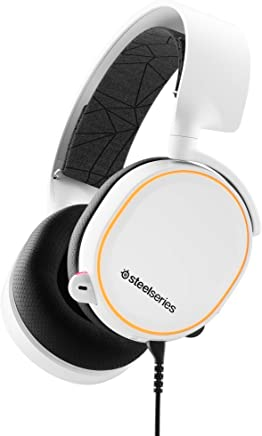 SteelSeries 61507 Arctis 5 Beyaz (2019 Edition) RGB Gaming Kulaklık - DTS Headphone:X 7.1 Surround for PC and PlayStation 4