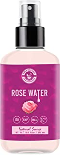 Rose Water (10.15 fl oz / 300ml) for Face & Hair Toner, Alcohol & Preservative Free