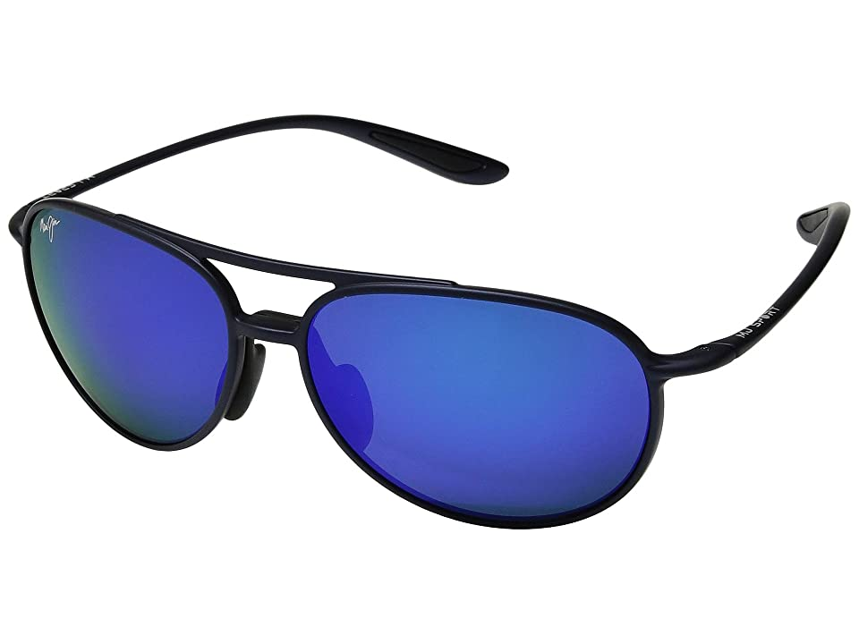 Maui Jim Alelele Bridge (Matte Blue) Athletic Performance Sport Sunglasses
