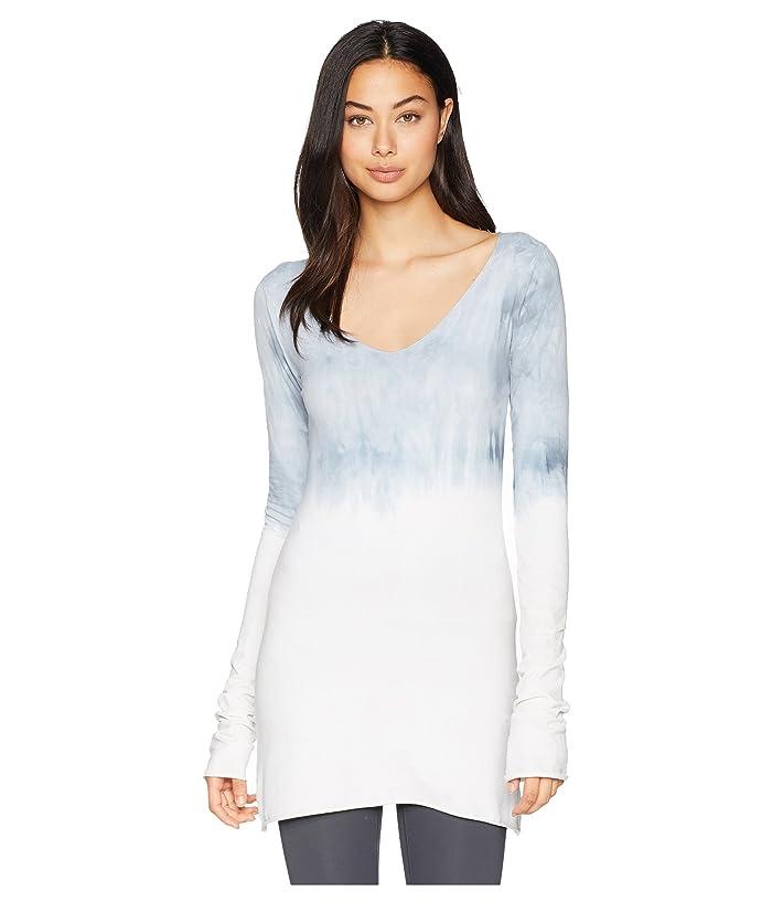 Hard Tail Sexy Long Skinny Tee (Crystal Dip-Dye 2) Women's T Shirt