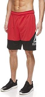 Reebok - Pantalones cortos con cordón para hombre - Pantalones cortos deportivos para correr y entrenar con bolsillos