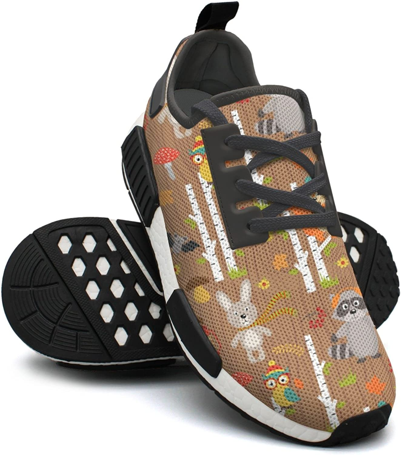 Fox Bear Rabbit Bats Are In The Forest Ladies Jogging shoes Nmd Cute Gym shoes