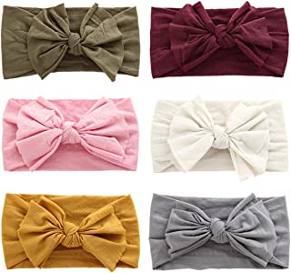 Baby Girl Headbands and Bows Soft Nylon Newborn Infants Toddler Headbands Hair Bows Hair Accessories for Baby Girls