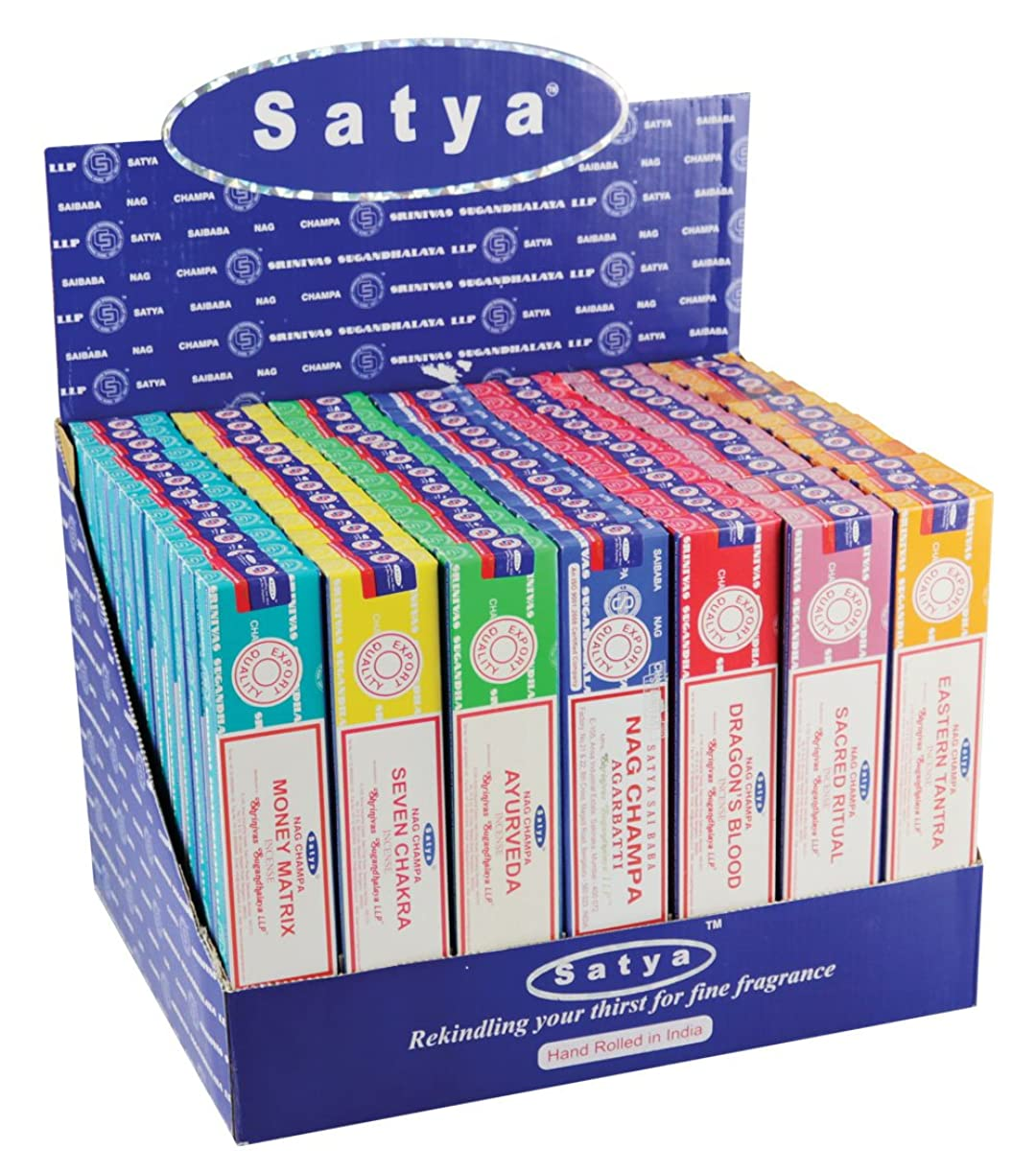 最大限手数料ページェント84pc表示?–?Satya Incense VFMシリーズ1?–?15?gm/Assorted