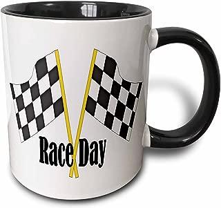3dRose 210741_4 Car Race Start Your Engine Sign Mug 11 oz Black