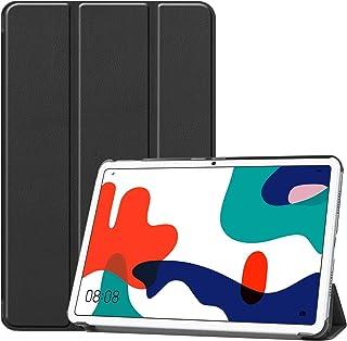 Huawei MatePad 10.4 ケース Freesun 軽量 薄型 高級感 PU レザー スマート Huawei MatePad 10.4インチ カバー 耐衝撃 傷防止 クリア ハード 背面 ケース 三つ折り スタンド オートスリープ ...