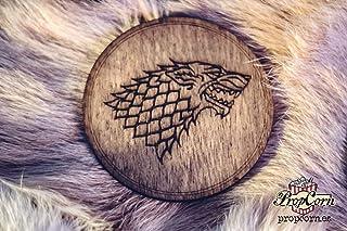 Posavasos Juego de tronos, Casa Stark, Casa Targaryen, Casa Lannister, Casa Baratheon.
