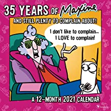 """TF PUBLISHING 2021 Celebrating 35 Years of Maxine Monthly Wall Calendar - Artist John Wagner - Space for Notes - Home/Office Planning- Matte 12""""x12"""""""