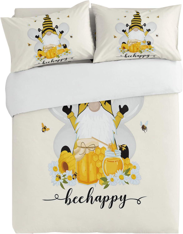 Seasonal Wrap Introduction SUN-Shine 3PiecesBeddingDuvetCoverSetBee Honey Tampa Mall Flower Dwar