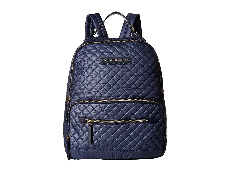 Tommy Hilfiger Alva Backpack Quilted Nylon (Indigo) Backpack Bags