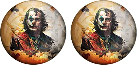 AVI Pin Badges with Multicolor Joker with Playing Card Design Badge Pack of 2 /6 cm