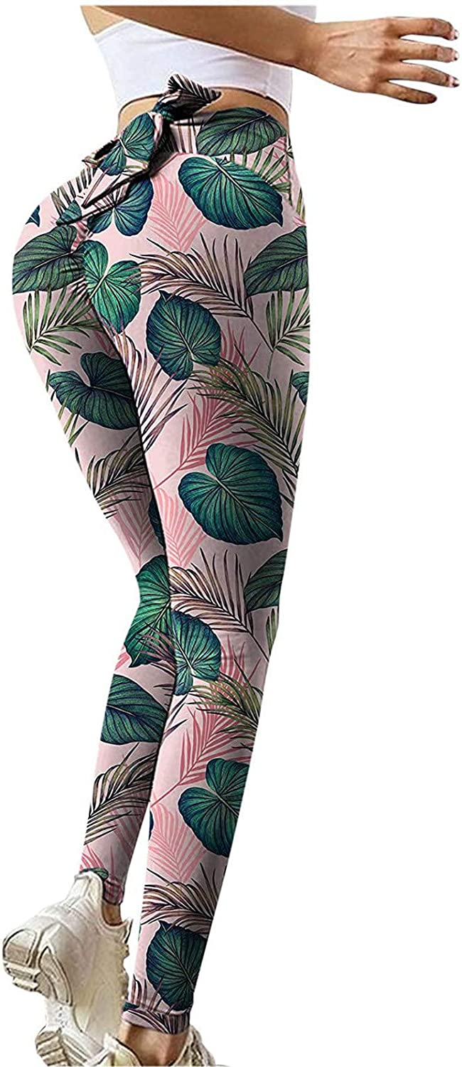 Yoga Pants for Women High Waisted Control Leggings for Women Printed Workout Running Full Length Active Pants for Women