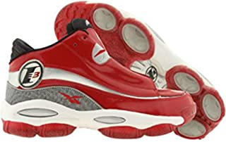 Mens Answer DMX 10 Allen Iverson Basketball Shoes Red Silver White Black