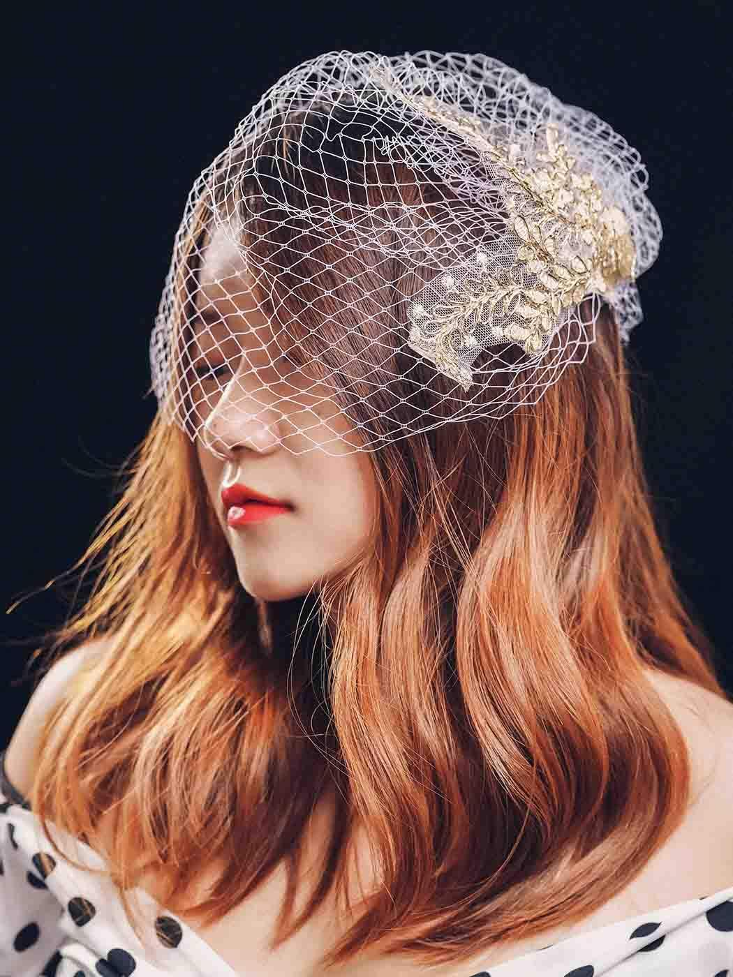 Unsutuo Birdcage Veils Bride Wedding Applique V Cheap SALE Inventory cleanup selling sale Start Lace Veil Bridal