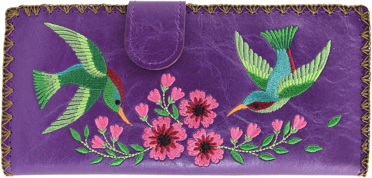 Lavishy Wallet - Hummingbirds Flowers Bea and Tulsa Mall Sale item Embroidered